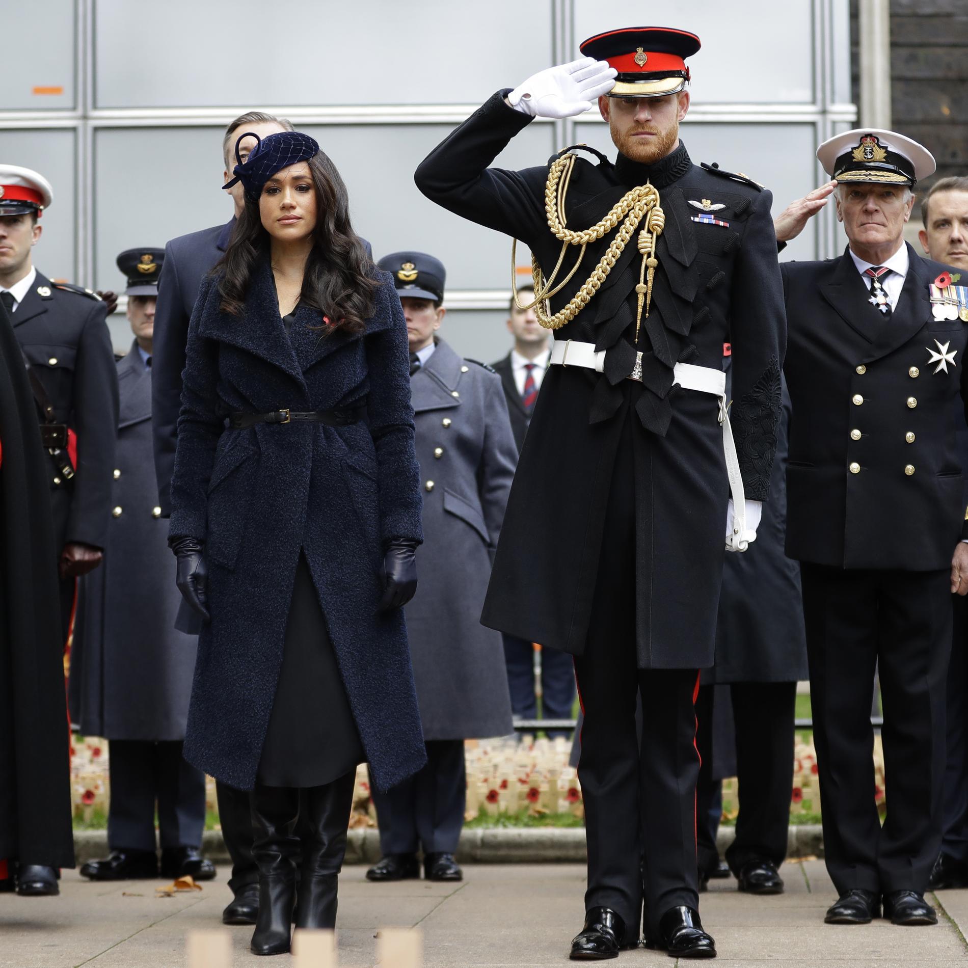 Meghan Markle et le prince Harry assistent aux commémorations du Jour du Souvenir