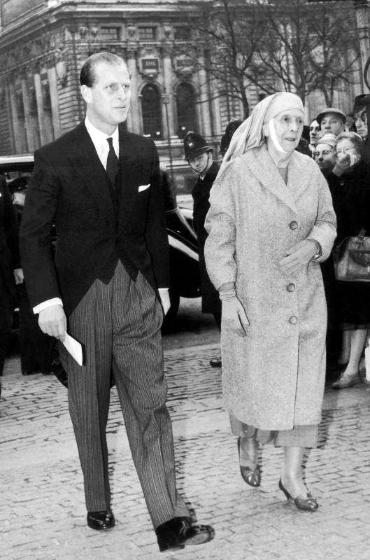 La princesse Alice de Battenberg et le prince Philip