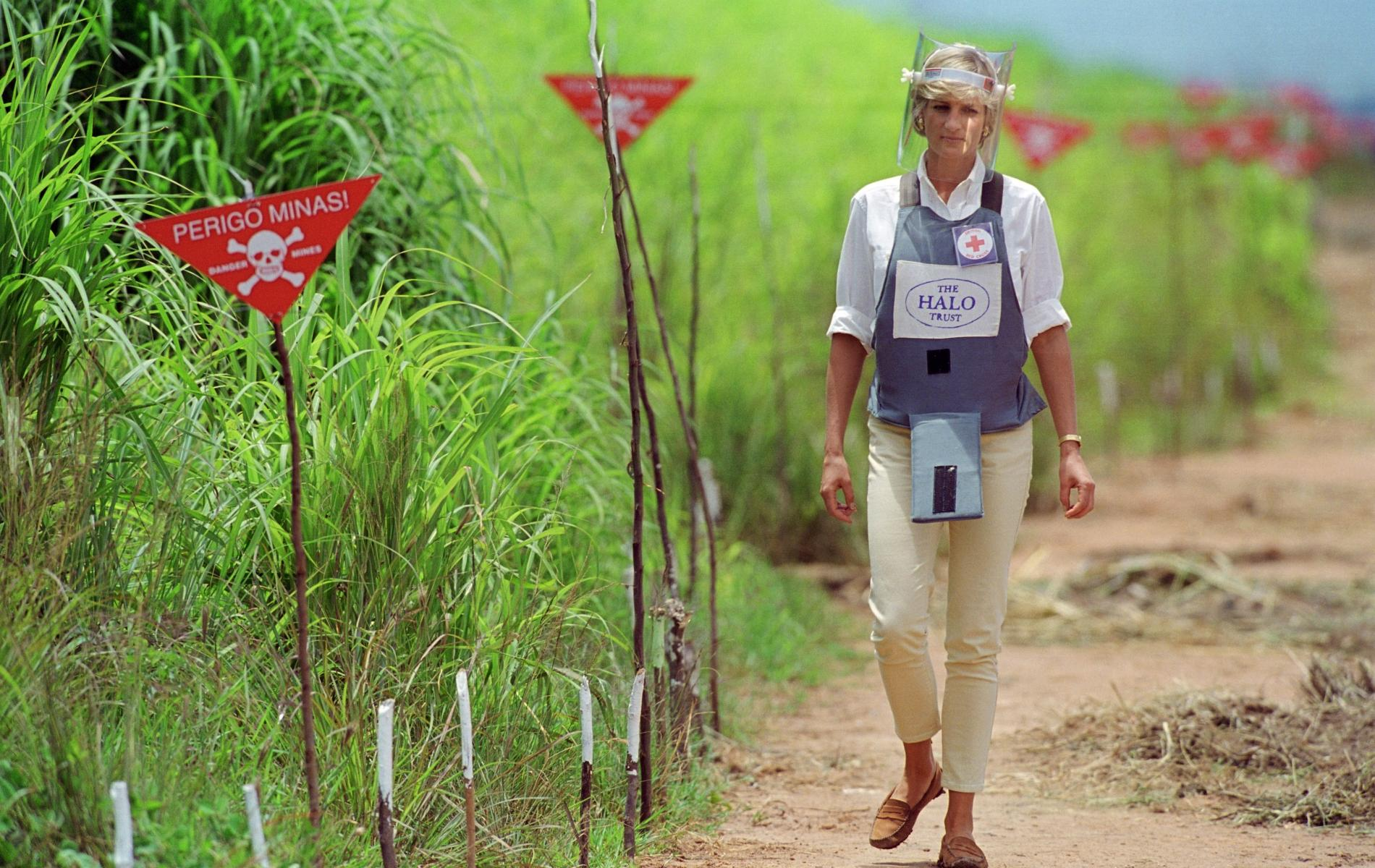 Lady Diana en Angola
