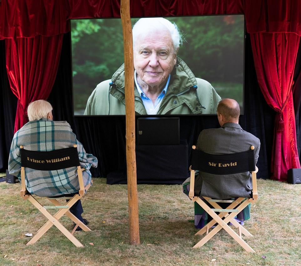 Le prince William et Sir David Attenborough