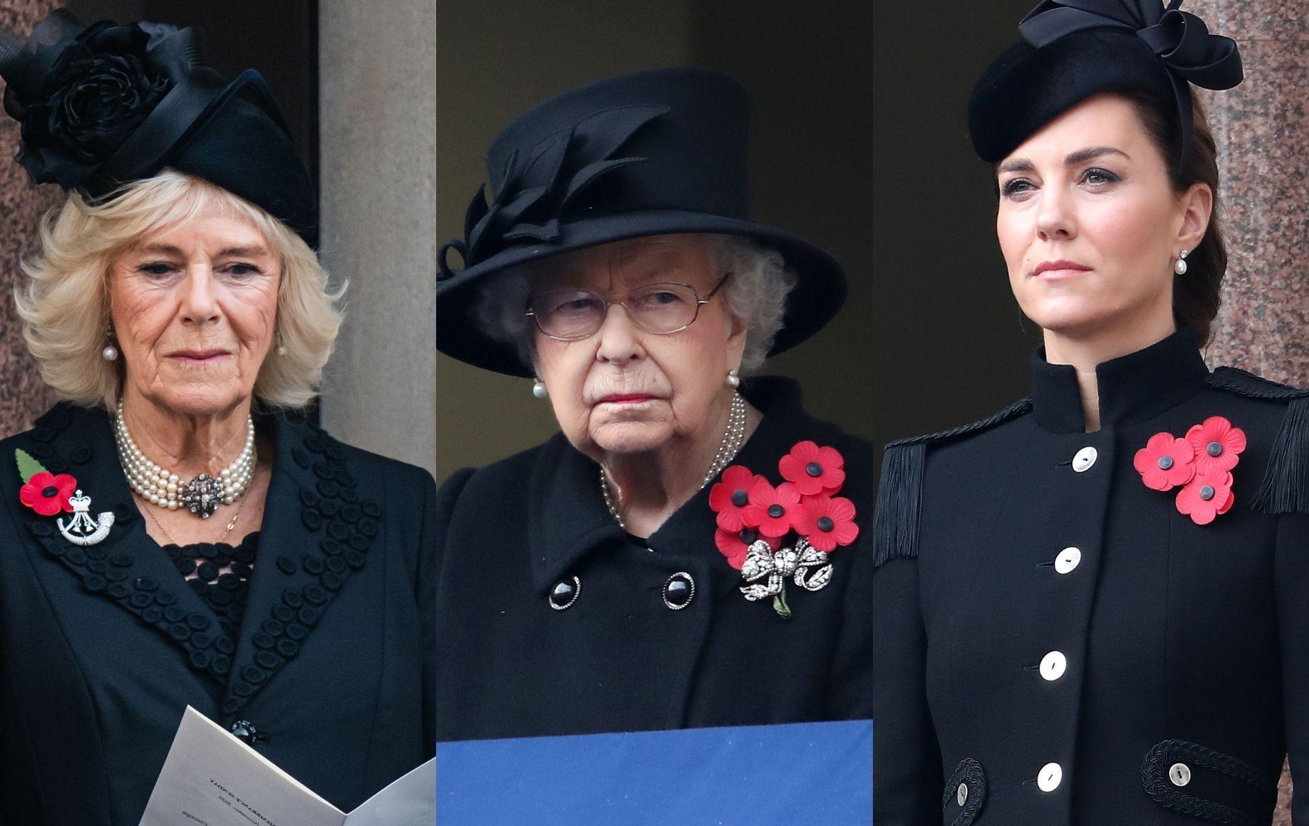 Elizabeth II, Kate et Camilla, un trio plus fort que jamais au balcon de Whitehall