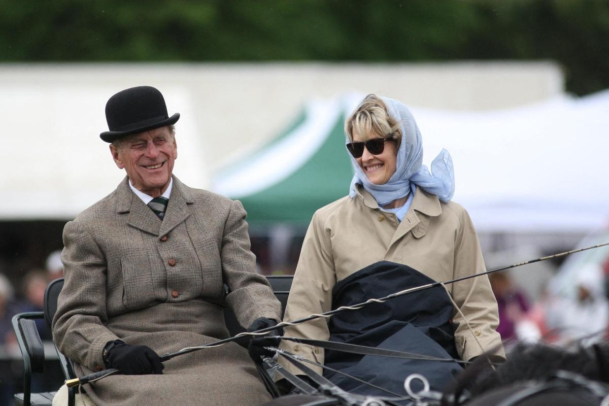 Lady Penny en calèche avec le prince Philip