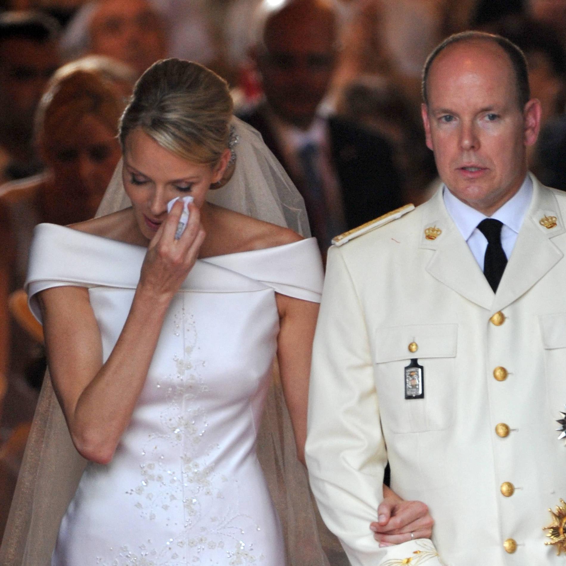 Charlene et Albert de Monaco, le jour de leur mariage