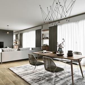 Photo Presse Hubstairs Comment Créer Deux Espaces De Vie Dans Un Salon ?    Lu0027appartement De Constance
