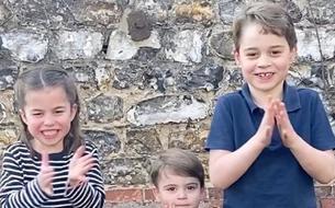 Dans une vidéo émouvante, George, Charlotte et Louis applaudissent les soignants