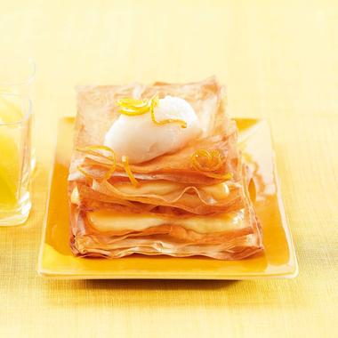 Tarte au citron en millefeuille