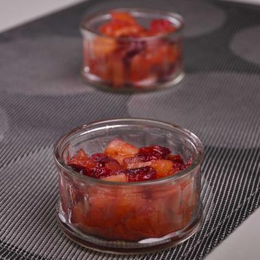 Compote pomme cranberry