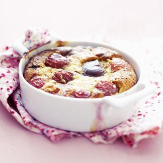 Muffins au chocolat et crème anglaise allégée