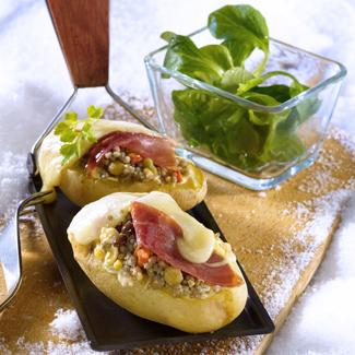 Pomme de terre garnies à la savoyarde