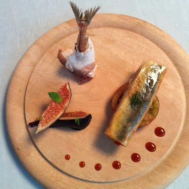 Croustillant de sardine au miel et à la menthe