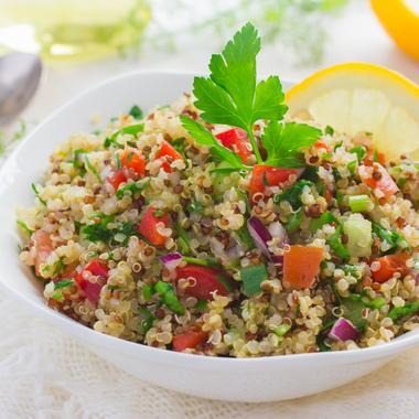 Taboulé de quinoa cru