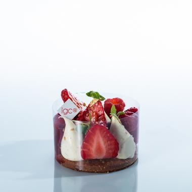 Tartelette fraise balsamique sans sucre