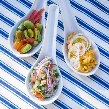 Trois cuillérées de salades