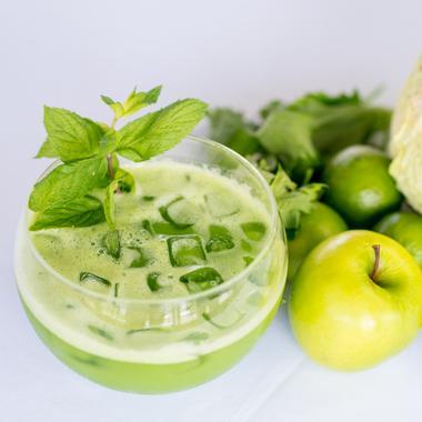 Cocktail green détox au citron