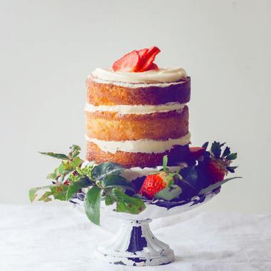 Naked cake à la fraise