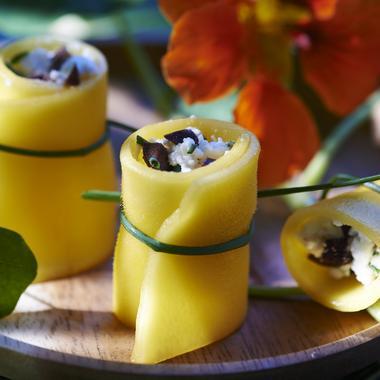 Roulés de mangue au fromage frais