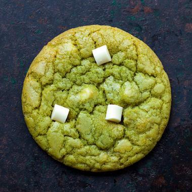 Cookie au chocolat blanc et thé matcha