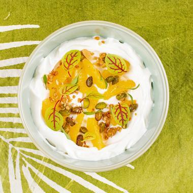 Yaourt agrumes et pistache