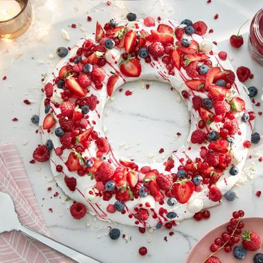Couronne de fruits à la confiture de fraise & framboise