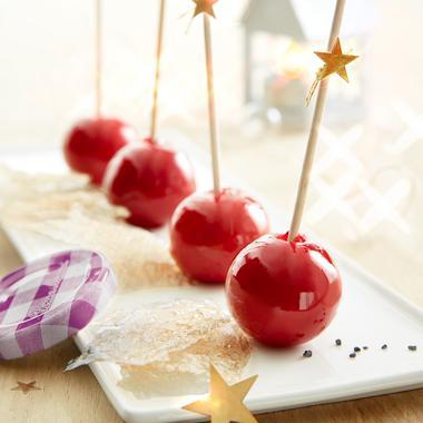 Sucettes sucrées-salées au foie gras et à la confiture de fruits