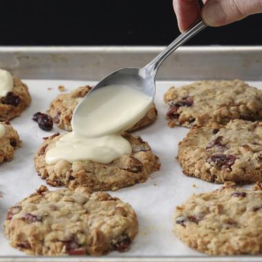 Cookies de Noël aux cranberries et au gingembre