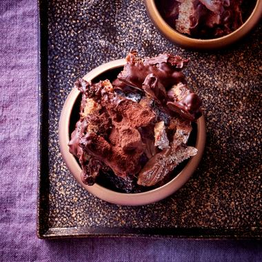 Rochers au chocolat et aux pains Poilâne