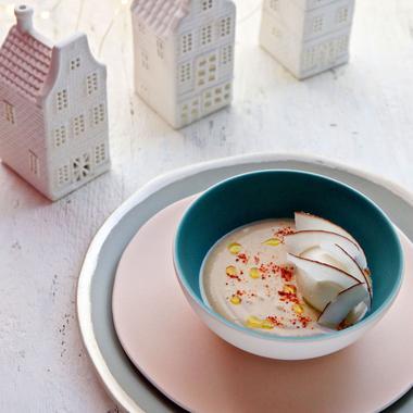Soupe froide version sucrée aux marrons coco et café