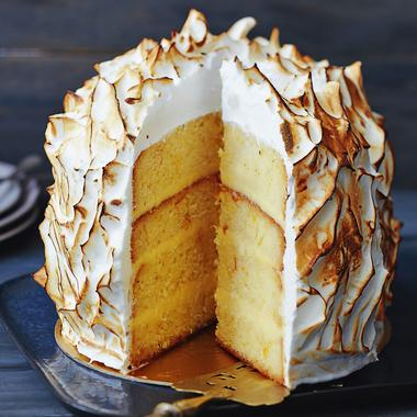 Layer cake au citron meringué