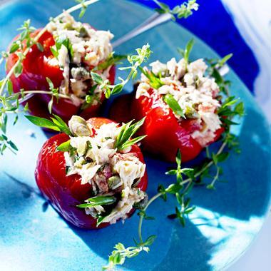 Petits poivrons grillés au thon