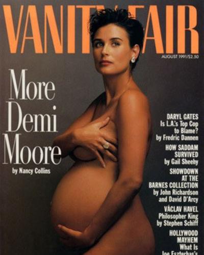 Demi Moore pose à nouveau nue en une d'un magazine, 28 ans après