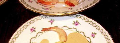 Flan d'asperges aux langoustines