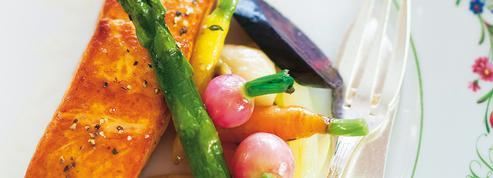 Pavé de saumon, légumes de Joël Thiébault