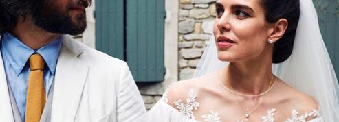 Robe bohème, hommage à Grace Kelly : toutes les tenues du mariage de Charlotte Casiraghi