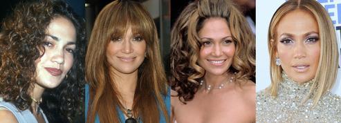 Des boucles naturelles aux longueurs baguette, l'évolution coiffure de Jennifer Lopez