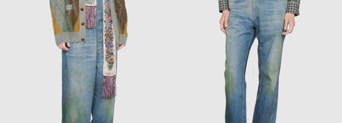 Le jean Gucci taché d'herbe à 680 euros passionne le web