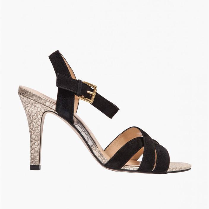 Sandales compensées cuir noir irisé Jonak Vinted