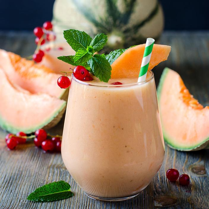 Soupe de melon aux fruits rouges