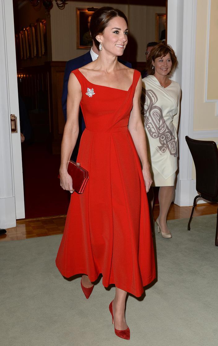 Kate Middleton, icono de la moda real - Vestido de Preen