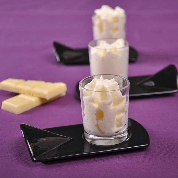 espuma de chocolate blanco