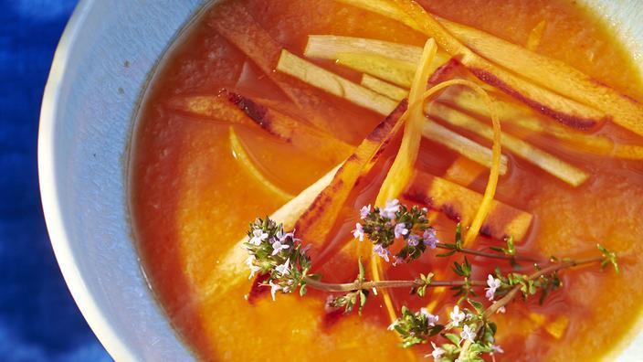 sopa de meló i pastanaga
