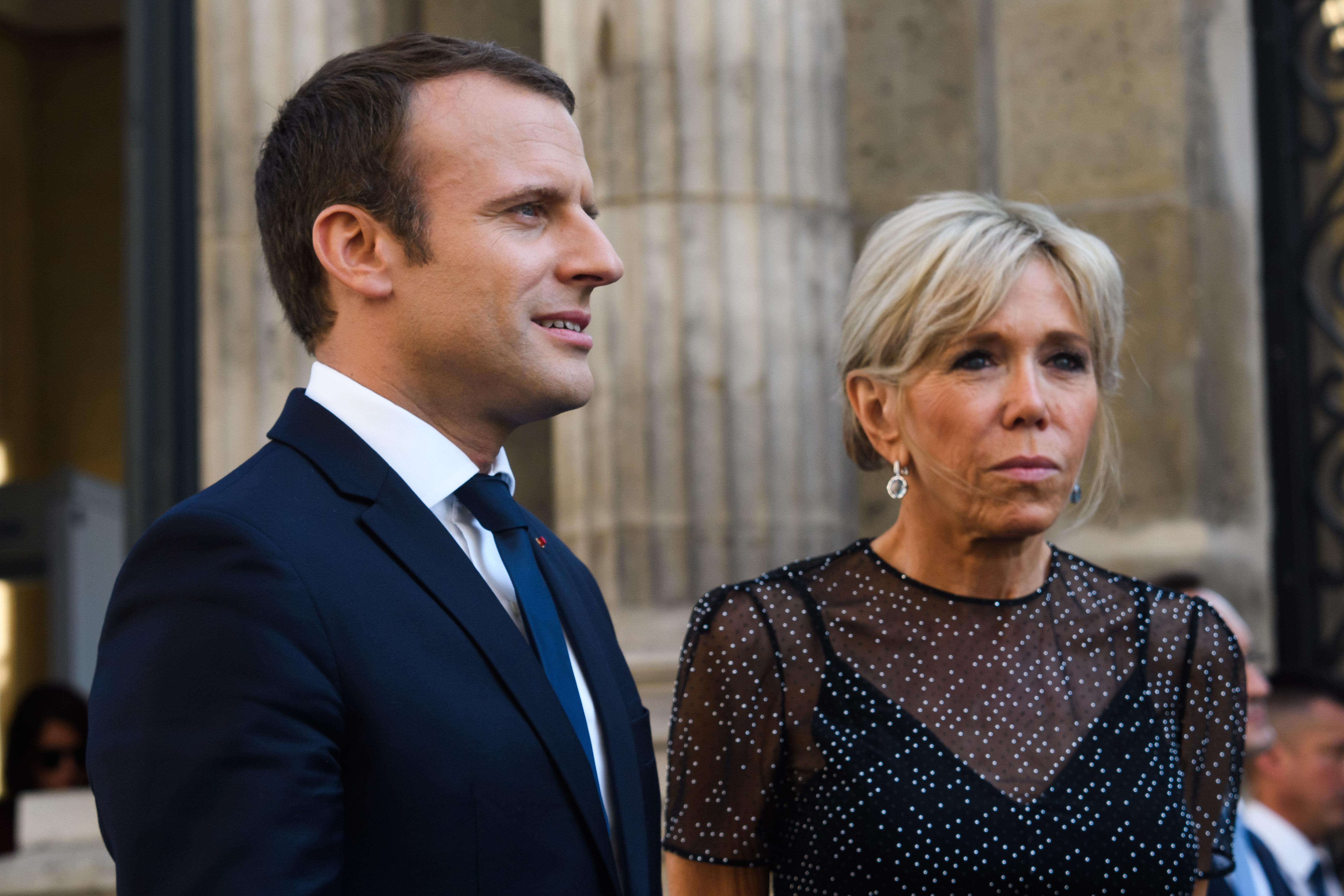Pour Brigitte Macron Son Mari Est Le Plus Beau President De La Ve Republique Madame Figaro
