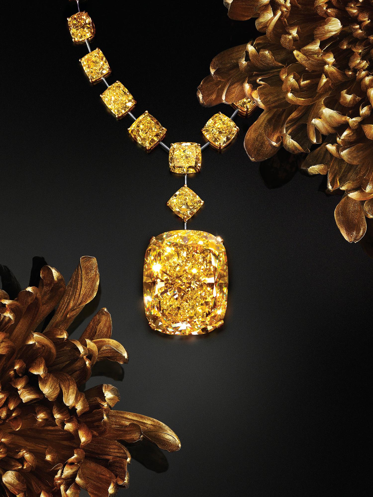 bague diamant jaune graff