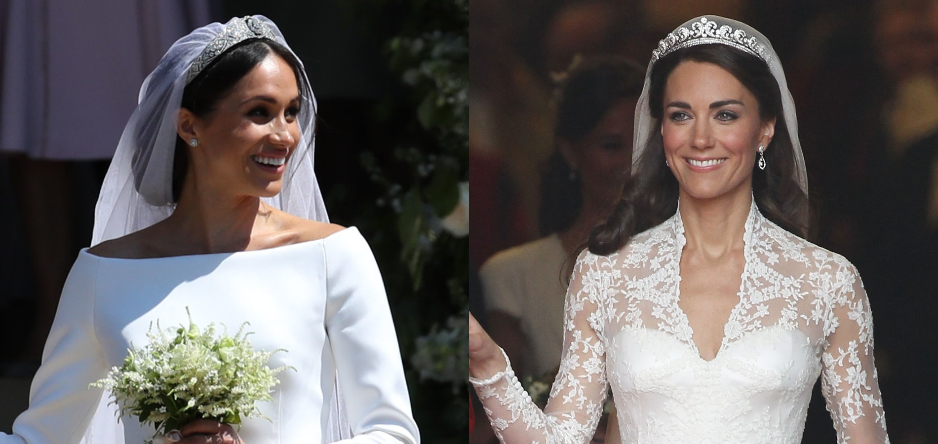 Le match des robes de mariée de Kate Middleton