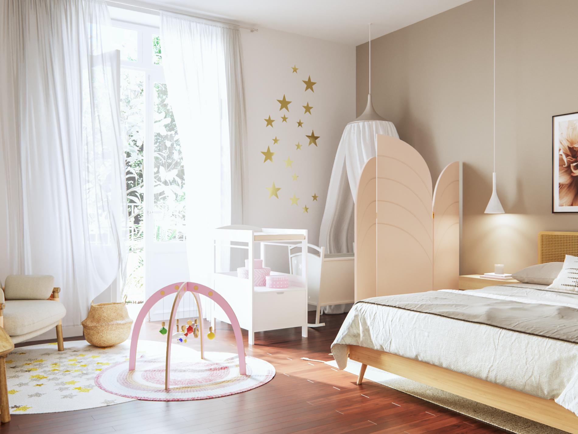 Comment Accrocher Une Guirlande Lumineuse Au Mur comment aménager un coin bébé dans une chambre parentale