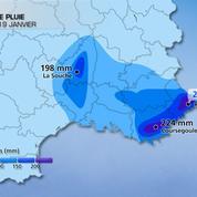 Sud-Est : Deux mois et demi de pluie en trois jours