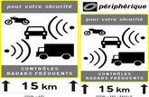2 nouveaux panneaux signalent les zones de contrôle de vitesse avec radars