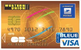 Carte Bleue Western Union.Une Carte Commune Pour La Poste Et Western Union