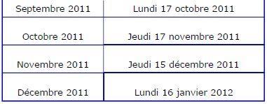 Calendrier Pole Emploi Actualisation 2020.Le Calendrier 2011 Du Demandeur D Emploi