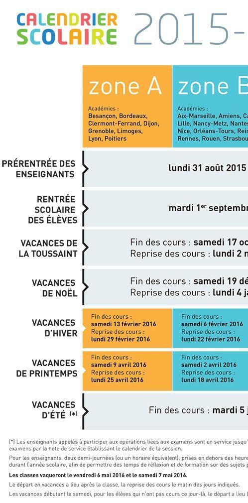 Calendrier Scolaire Bordeaux.Le Calendrier Scolaire Pour 2015 2016 2016 2017 Et 2017 2018