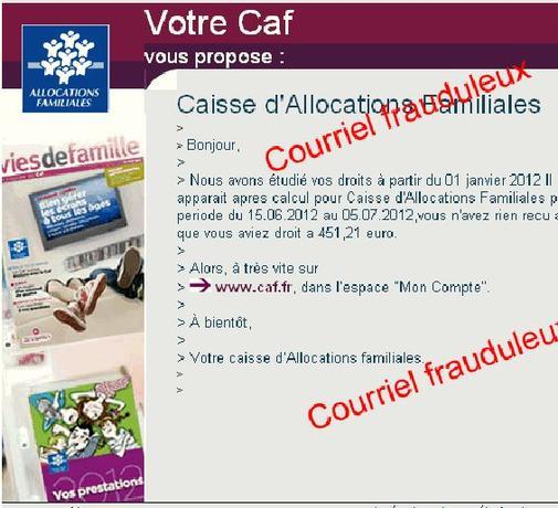 Des E Mails Frauduleux Au Nom De La Caf Circulent